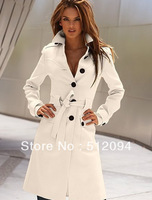 Lady coat, New Fashion Front and rear open buckle,slim cute trench coat,women's overcoat,outerwear,Free shipping,A652