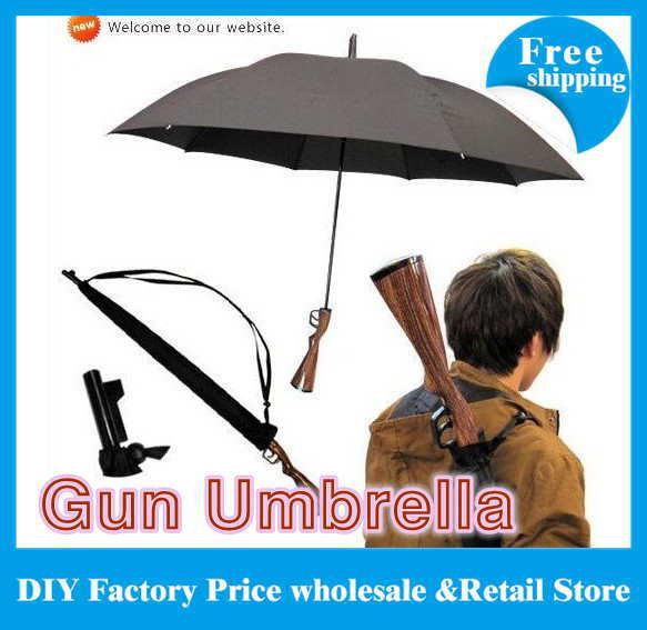 Free Shipping 25pcs/lot New Novelty Rifle Umbrella Gun Umbrella 100cm Big size(China (Mainland))