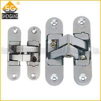brushed chrome door hinges