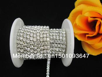 (K01)1 Meter Rhinestone Wedding Topper Bouquet Crystal Cake Banding SS16