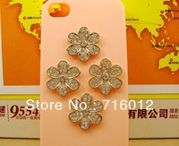 Free shipping! min order $15 kawaii flower alloy phone decors for diy phone decoration 6pc for woman (no phone case) DY581