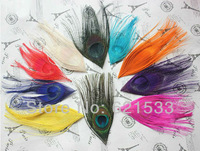 Wholesale!200PCS/LOT 10-15cm Multicolor Peacock  Eye Feathers Peacock Feather Eyes 11colours available