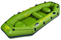 China green four person fishing boat inflatable boat thickening inflatables sun-shading