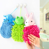 Free Shipping Chenille doll three-dimensional animal head thickening towel