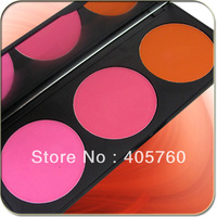 Professional 3 Colors Makeup Cosmetic Powder Blush Blusher Palette Makeup Salon