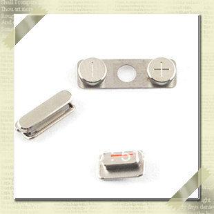 5 комплект / lot объем сторона тихая отключения звука переключатель электропитание ключ пуговица для iPhone 4S