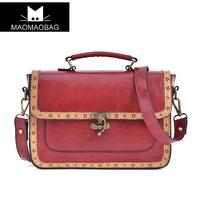 Cat bag 2013 british style vintage bag cutout briefcase shoulder bag handbag women's handbag