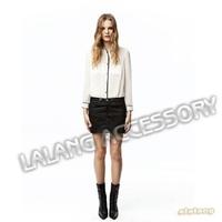 1pc/lot White Women Blouses OL Style Long sleeve Chiffon T-Shirts Tops Summer Blouses For Elegant Lady  651019