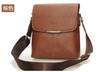 polo 2013 Shoulder Messenger business casual bag  ,mens briefcase leather brown handbag free shipment