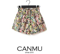 Hot sale ! 2013 summer new fashion colorful loose  high waist elastic belt shorts, free shipping