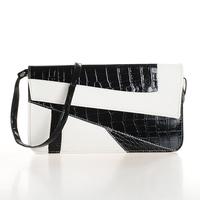 Women's handbag bag fashion crocodile pattern bags vintage bag day color block envelope clutch casual bag