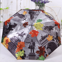 Oil painting umbrella silks and satins cloth waterproof  anti-uv personalized umbrella
