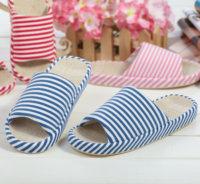 Free shipping Summer at home lovers slippers home slip-resistant floor slippers linen basin slippers