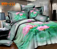 Cotton twill lotus pure cotton bedding suite princess-2