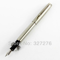 Pure silver baoer 717 medium nib fountain pen