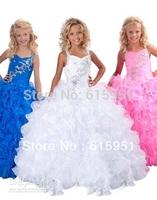 2013 Hot Beading Straps Ruffles 2013 Little Girl Pageant Dress Style  JY2180