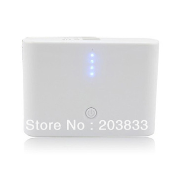 delivery through US Warehouse by USPS(2-5Days) White 12000mAh Backup External Battery Power Bank Charger For i9300 HTC ONE X