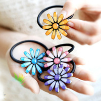 H048 Woman Fashion Hair Jewelry Colorful Glaze Chrysanthemum Hairpins Hairgrips Hair Sticks Elastic Hairbands (MOQ $12,can Mix)