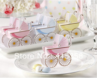 wedding decoration baby carriage Favor Box(50pcs/lot) /Wedding candy boxes