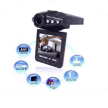 "2013 H198 Portable Car DVR 2.5"" TFT LCD 270 Degree Rotating Screen HD display Camcorder Night Vision car camera(China (Mainland))"