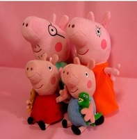 Peppapig & george pig peppa pig family plush cute toys pink Retail 60 pcs
