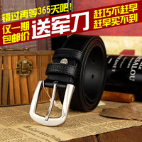Septwolves strap male pin buckle genuine cowhide leather belt