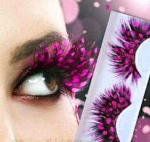 Ds female dj make-up multicolour false eyelashes