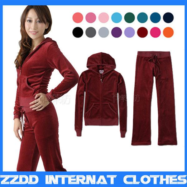 женская спортивная костюм из двух частей - Покупайте дешевые