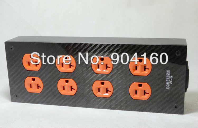 Acrolink CF-408 Carbon Fiber special power distributor Red Copper 8ways power socket