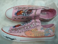 free shipping Edhardy women's shoes canvas shoes !