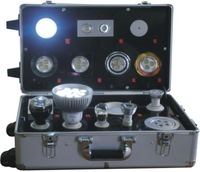 Led Demo box with spotlight lamp-socket and AC/DC Input voltage with free shipping
