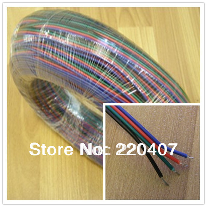 freeshipping 10M LED RGB extension cable wir