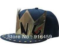 Promotion Free shipping KING GOLD Black PUNK Hiphop baseball snapback Rivet Spike studded Dance Cap hats