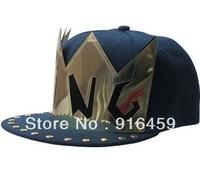 Promotion Free shipping KING GOLD Black PUNK Hiphop baseball snapback Rivet Spike studded Dance Cap hats