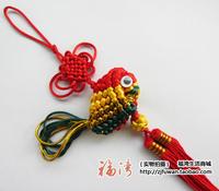 Knitted fish chinese knot fish hangings car hanging single fish