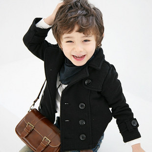 Fashion Children clothing spring black double breasted kids blazer,boys autumn coat outerwear,boy pea coat/spring jackerSZ 2Y-6Y
