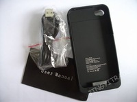 External battery  External battery case  emergency charger  portable charger for iphone4 1900mAh free shipping 8856