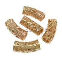 Free shipping!!!Brass Tube Beads,New Arrival, rose gold color plated, hollow, nickel, lead & cadmium free, 19x9x7mm