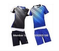 wholesale!Original edition New 2012 South Korea Olympic race suit VICTOR Mens Badminton / Tennis Polo Shirts+Shorts Black/Blue