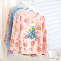 2014 autumn new arrival cute cartoon flower print sweatshirt, hoodies.