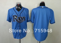 New Baseball Jerseys Rays Blue Color Cool Base Jersey Stitched Size 48-56 Mix Order
