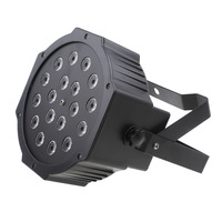 RK018A For Club DJ Disco Stage Party with Dmx Control 7 Channel 18W Led Flat Par Light