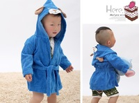 newborn big bathrobes super soft baby 100% cartoon cotton Baby hooded robe thin parisarc bath towel