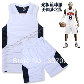 2013 new light board basketball clothes wholesale blank basketball jersey USA Dream Team China Team jersey