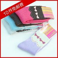 Women's socks rabbit wool socks plus velvet thickening loop pile thermal socks towel knee-high cashmere socks sock