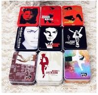 Freeshipping!Michael Jackson painting series Tin Storage box/ 9style Classic Collection-mini jewelry Box/Retro Storage Case