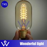ST45 light bulbs vintage cord pendant lamp E27 edison bulb for restaurant club bars
