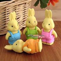 Free shipping Cute cartoon rabbit eraser South Korea cartoon rubber 50pcs/lot