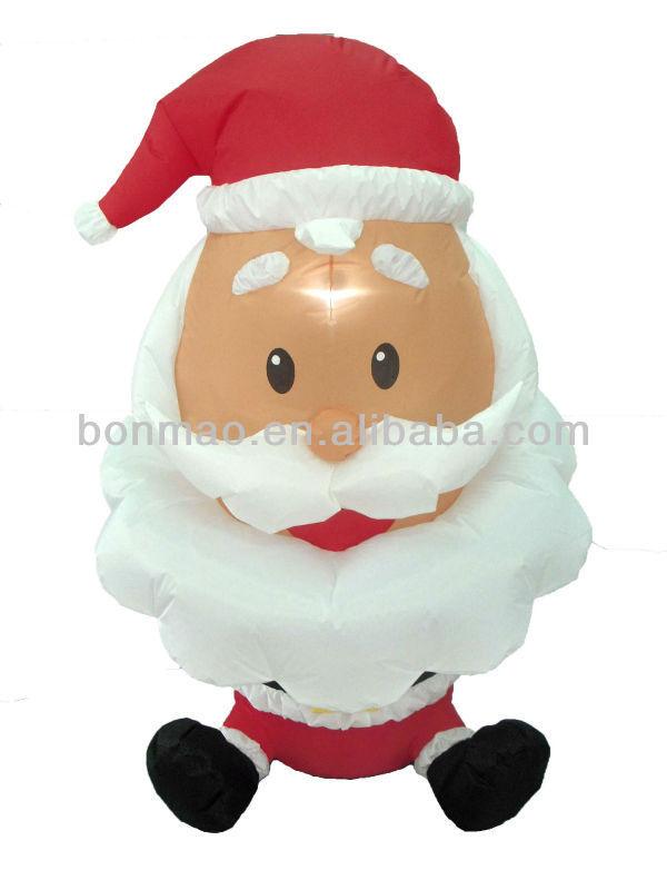 4 Foot high inflatable santa claus with big head(China (Mainland))