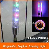 wheel light tire wheel valve bike light 7 patterns cycling bicycle LED bike lamp 5 LED for riding warning at nigh